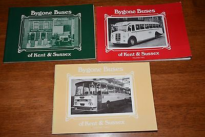 Bygone Buses  Of Kent And Sussex   Vol 1&2&3 Ref T304