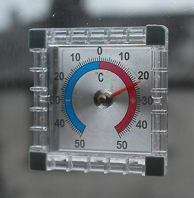 Window Stick On Indoor Outdoor Wall Garden Greenhouse Home Room Thermometer