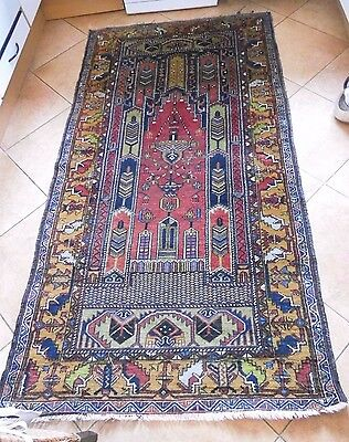 praying carpet from Anatolia 100 year old, Kasak, Kaukasier, Türkei,