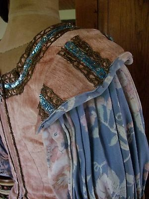 French Vintage Theatre Company Marie Antoinette Style Pink Velvet  Bodice