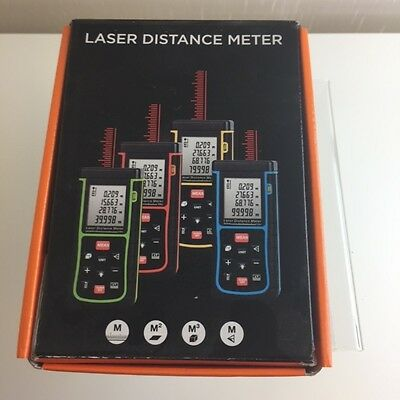Laser Distance Meter with Bubble Level Rangefinder Range finder Tape measure 40m