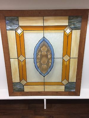 antique stained glass window -         44 inches x 49 inches