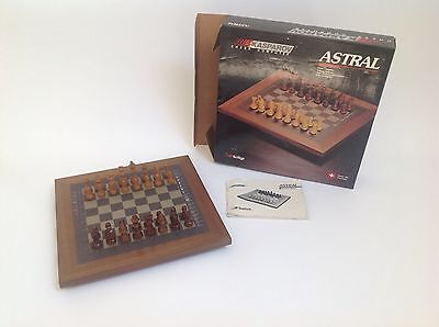 Rare 1986 Kasparov Electronic Chess Computer ASTRAL, SciSys, No. 410, Wooden