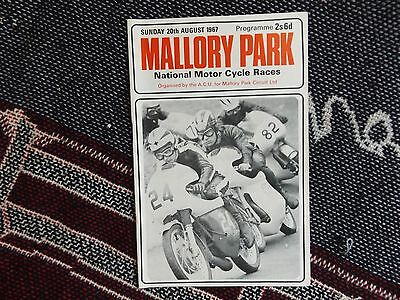 1967 Mallory Park Programme 20/8/67 - National Motor Cycle Races