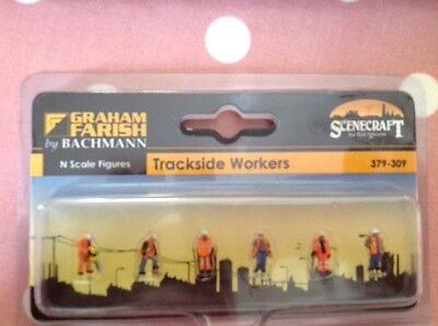 Graham Farish By Bachmann.  379-309. Trackside Workers Pack.  N Scale.