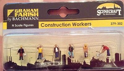Graham Farish By Bachmann 379-302. Construction Workers. N Scale.