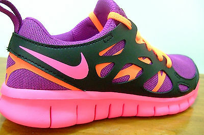 Girls Womens Nike Free Run 2 Running Gym Lightweight Sports Casual Trainers