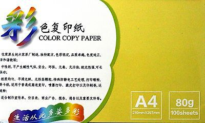 100 sheet A4 colored copy paper yellow color