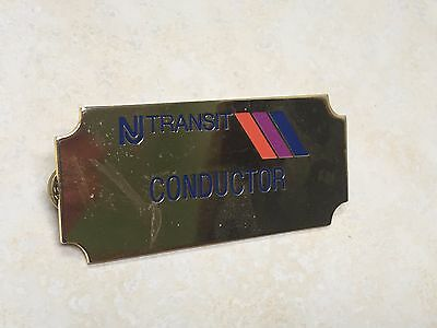 New Jersey Transit Conductor Badge