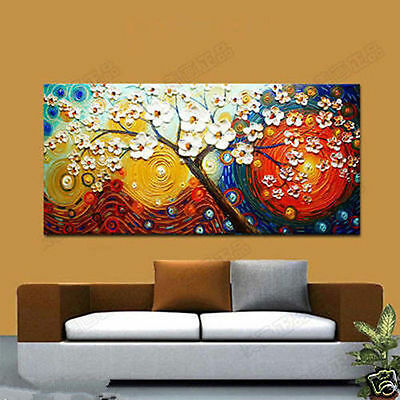 Huge Modern Hand-draw Abstract Wall Art Oil Painting On Canvas Tree(No Frame)