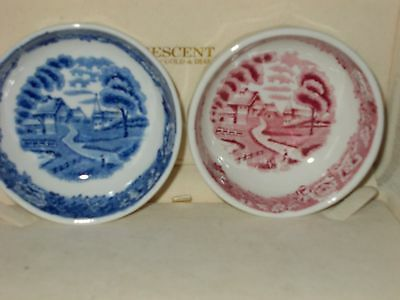 pair of porcelain  vintage pin dishes WOODS & SONS
