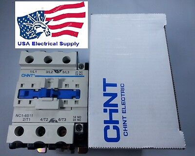 New Contactor Schneider LC1D65 Replacement For Chint  NC1-6511 Coil 220VAC