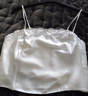 * Vintage M&s Cream Broderie Anglaise Camisole Top  * Size 16 *