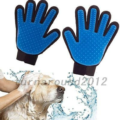 Left / Right Hand Glove Touch Deshedding Efficient Pet Grooming Dog Cat Bath UK