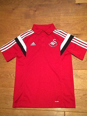 Lovely Girls Swansea City Football Top Size YL - Ex Condition
