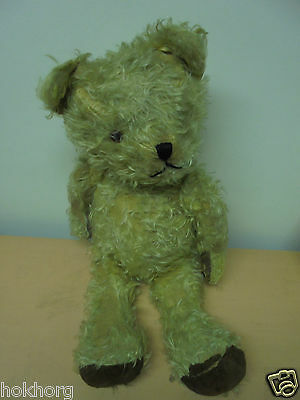 "Antique Vintage C1940S Teddy Bear 24"" Tall Tatty Condition"