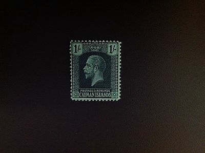 Cayman Islands 1921-6 1s Black on Green SG63 MH