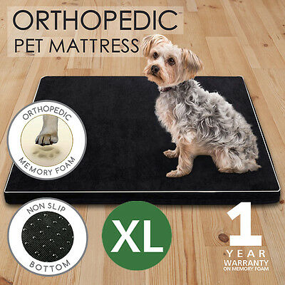 Pet Bed Mattress Memory Foam Dog Bed Cat Pad Cushion Extra Large Black XL