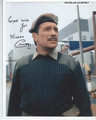 10x8 Doctor Who Photo With Nicholas Courtney Pre-Print Autograph Good Condition