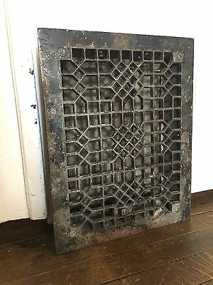 Antique Cast Iron Heat Register Grate Vent Old Victorian Vintage Louvers Floor