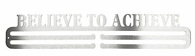 Believe to Achieve Stainless Steel Medal Hanger / Display