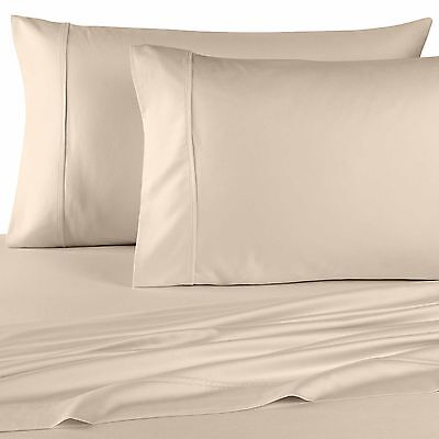 1000 Thread Count 100% Egyptian Cotton PILLOW CASE Set 1000 TC KING Ivory Solid