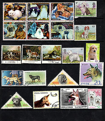 Dogs Collection of stamps
