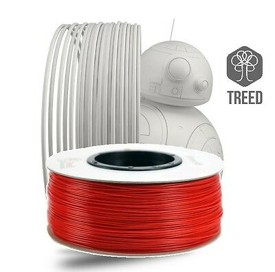 Bobina filamento stampa 3D ABS Rosso ø1.75 1kg - Performance ABS Treed