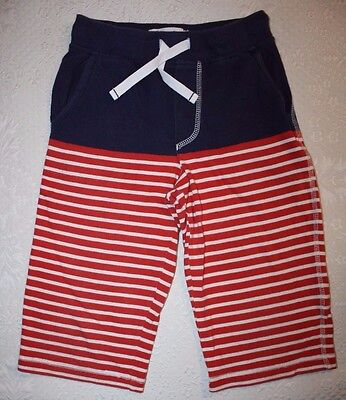 MINI BODEN Boys Baggies Shorts Red & Navy Blue Stripes SIZE 7