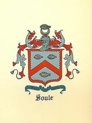 *Great Coat of Arms Soule Family Crest genealogy, would look great framed!