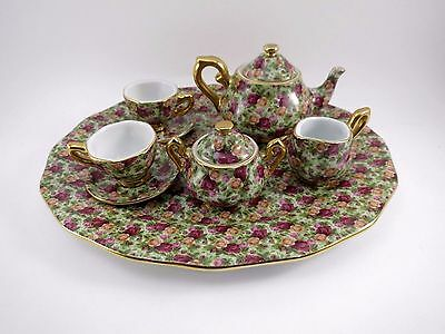 Royal Albert Mini Tea Set OLD COUNTRY ROSES Chintz Collection Porcelain China