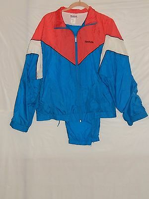 Vintage Reebok Track Suit Windbreaker Womens Medium
