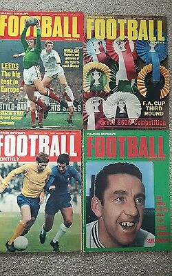 Charles Buchans Football Monthly Magazines x 5 from 1969