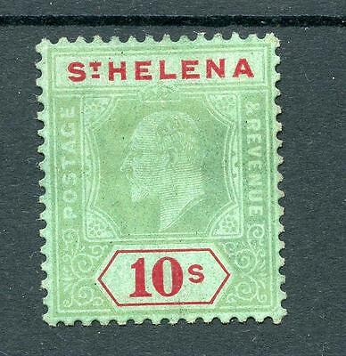St Helena 1908-11 10s green and red on green SG70 MM