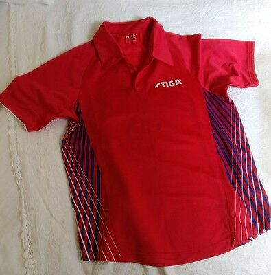 Stiga Table Tennis Match T-shirt - Red size Large L like butterfly