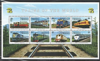 Y21 Commonwealth Of Dominica Trains Of The World Stamp Expo Australia 99 Kb Mnh