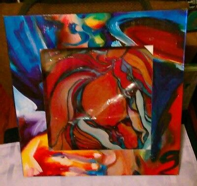 NEW ! MARCIA BALDWIN SOUTHWEST ABSTRACT HORSE TILE 12x12