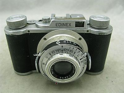 Wirgin Edinex II w/ Edinar 50mm f2.8 Lens 35mm Film Camera with Case ID 7480