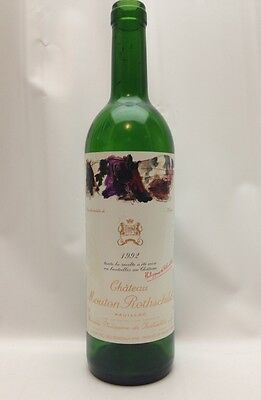 Chateau Mouton Rothschild 1992 Empty Wine Bottle with original label