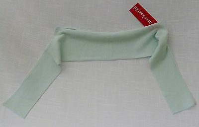 AG Spring Party Shrug Sea-foam Green  Girls Size Medium  55% Ramie 45% Cotton