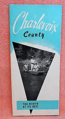 Charlevoix County, Michigan County Map undated.  1960s ?