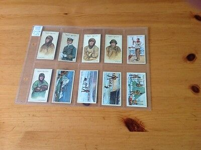 cigarette cards.Players. Polar Exploration.2nd series. Full set. Good condition.