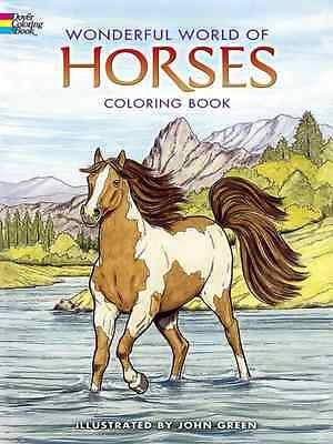 Dover Publications-Wonderful Natural World Of Horses NEW Coloring Book for Adult