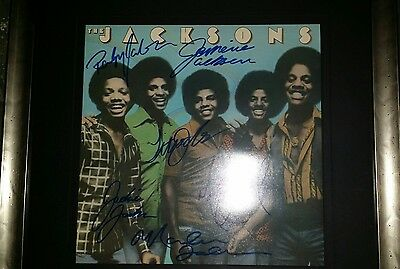 Signed LP by 6 members of The Jacksons including Michael Jackson.
