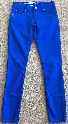 """Women's Mossimo Blue, Low-Rise, """"Fit 6"""", Cotton/Poly/Spandex, """"Skinny"""" Pants-1"""