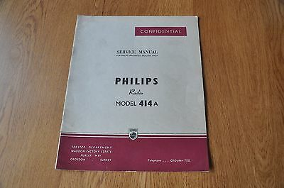 Philips Type 414A Radio Receiver Workshop Service Manual.