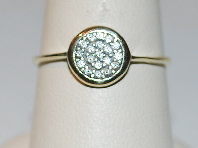 10K Gold ring with diamonds and matching pendant