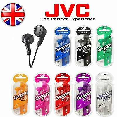 JVC HA-F160 Gummy Bass Boost Stereo Headphone Earphones for MP3/iPod/iPhone