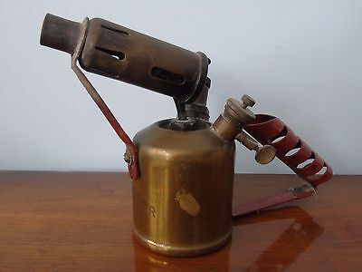 Vintage Monitor No 132A Brass Paraffin Blow Lamp Torch