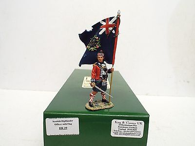 King & Country Br29 Scottish Highlander Officer With Flag Boxed  (A73)